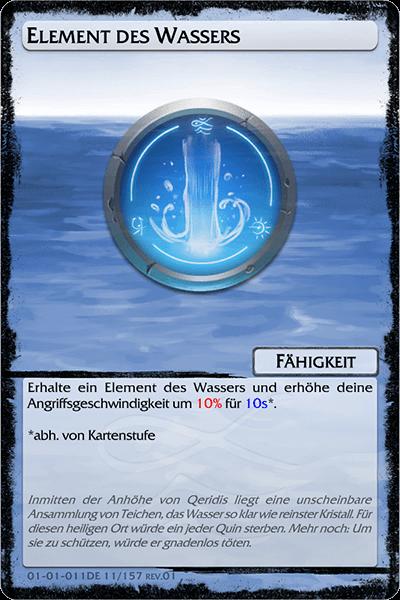 Element des Wassers