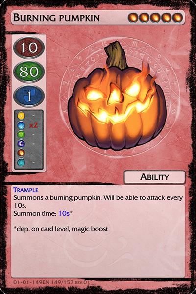 Burning pumpkin